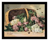 A Basket of Lilacs - Framed Art Print