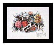 God Bless Our Home - Framed Art Print