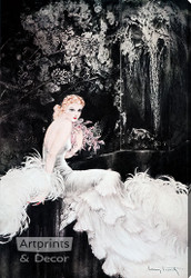 Orchids by Louis Icart - Stretched Canvas Art Print