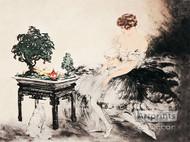 Le Jardin Japonais by Louis Icart - Art Print