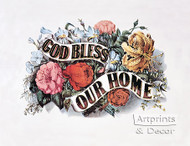 God Bless Our Home by Currier & Ives - Art Print