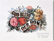 God Bless Our Home by Currier & Ives - Stretched Canvas Art Print