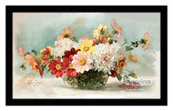 Bowl of Dahlias - Framed Art Print