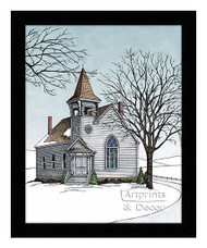 The Old Country Church - Framed Art Print