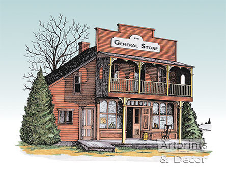 The General Store, Framed Art Print by Terry Lombard at ...