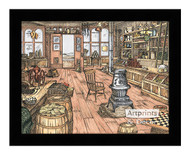 The Mercantile Store - Framed Art Print