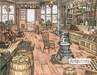 The Mercantile Store by Terry Lombard - Art Print
