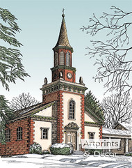 Old City Church by Terry Lombard - Art Print