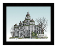 The Jasper County Courthouse - Framed Art Print