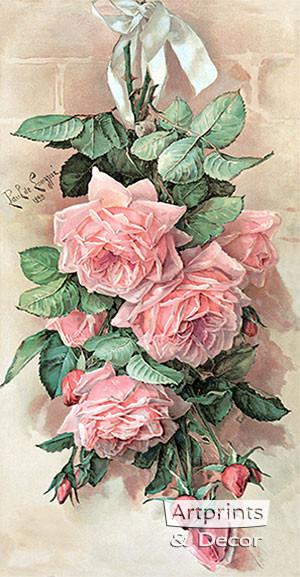 A Bunch of Beauties by Paul de Longpre - Framed Art Print