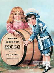Gold Lace - Vintage Ad Art Print