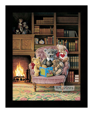 Story Time - Framed Art Print