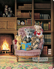 Story Time by Kevin Roeckl - Stretched Canvas Art Print