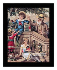 Genuine Durham Smoking Tobacco - Vintage Ad - Framed Art Print