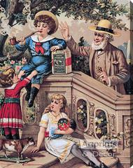 Genuine Durham Smoking Tobacco - Stretched Canvas Vintage Ad Art Print