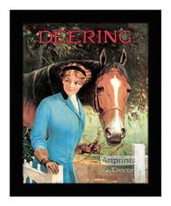 Deering - Vintage Ad - Framed Art Print