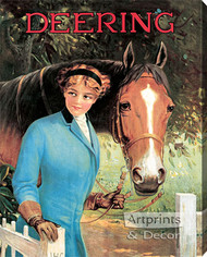 Deering by R. Atkinson Fox - Stretched Canvas Vintage Ad Art Print