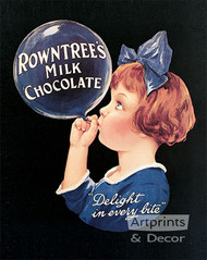 Rowntree's Milk Chocolate - Vintage Ad Art Print