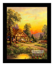 Cottage at Sunset - Framed Art Print