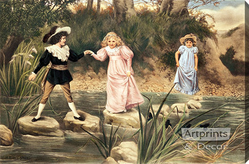 A Helping Hand by H. Blande Sparks - Stretched Canvas Art Print