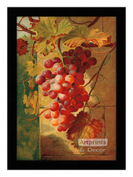 Red Grapes - Framed Art Print