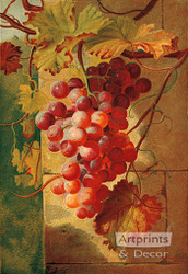 Red Grapes by William Pickles London - Art Print