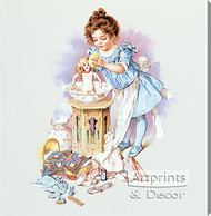 Playing Mama by Maud Humphrey - Stretched Canvas Art Print
