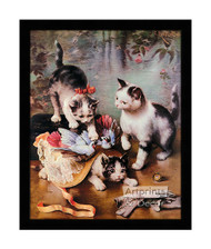 Mischievous Kittens - Framed Art Print