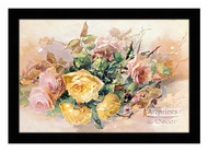 Pink & Yellow Roses - Framed Art Print
