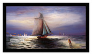 Moonlight Sail - Framed Art Print