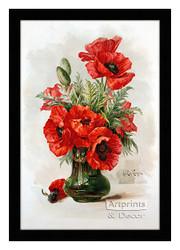 Red Poppies - Framed Art Print