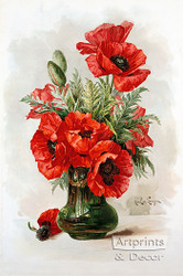 Red Poppies by Paul de Longpre - Art Print