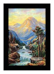 Golden Mountains - Framed Art Print