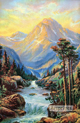 Golden Mountains - Art Print