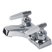 "Bathroom Faucet 4"" White Lever Handle"