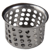 "Bathroom Basket Strainer 1"" Stainless Steel Pack of 6"