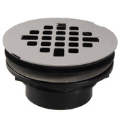 Shower Drain With PVC Body Stainless Steel Strainer