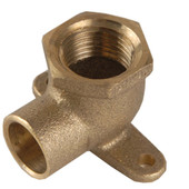 Drop Ear Elbow Solid Brass