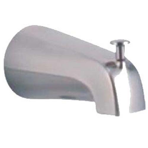 Tub Sprout W 1 2 IPS W Diverter Satin Nickel Plumbing Supply R Us