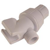 Handheld Shower Arm Adapter White