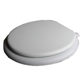 Toilet Wood Round Seat White