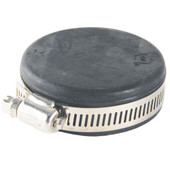 Rubber Jim Cap With Stainless Steel Hose Clamp 1-1/2""