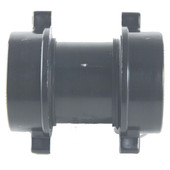 Abs Tubular  Slip Joint Coupling Black