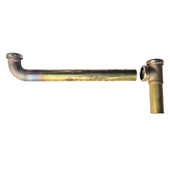 Rough Brass End Outlet w/ Baffle Tee and Waste Arm