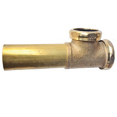 End Outlet Waste Tee Rough Brass