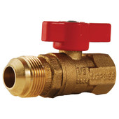 "Gas Valve 5/8""(15/16 Thread) Male Flare X 3/4"" FIP"