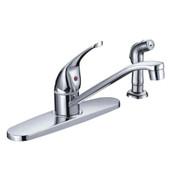 Kitchen Faucet Solid Lever Handle Cast Spout