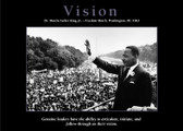 "VISION Dr. Martin Luther King Jr.-Freedom March, Washington, D.C.-1963  Unframed Poster 24""x36"""