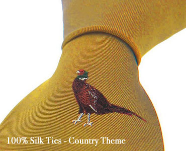 Country Themed 100% Silk Ties