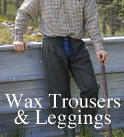 Mens Wax Trousers & Leggings